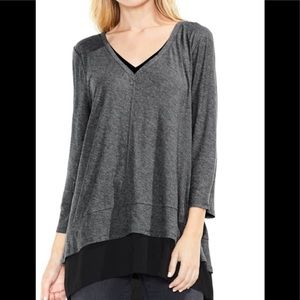 Two By Vince Camuto Gray w/Black Under Layer S